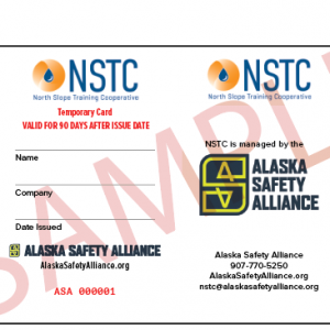 Temporary NSTC Card
