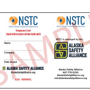 Temporary NSTC Card